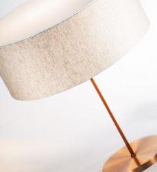 Abajur De Mesa Cúpula De 40cm Tecido Luminária Moderna - E-LED BRASIL