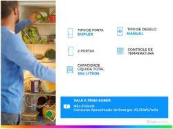 Geladeira/Refrigerador Consul Cycle Defrost - Duplex 334L CRD37 EBANA Branco